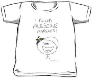 I pick awesome parents - photo of tshirt